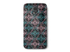 Wood Grain Pink and Turquoise Pattern Phone Case