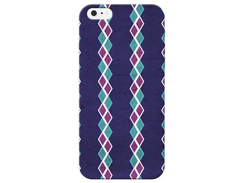 Geometric Dark Purple Phone Case