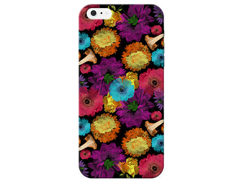 Black Floral Phone Case