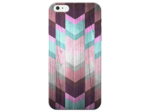 Pretty Wood Grain Gem Geometric Phone Case