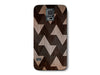 Brown Wood Grain Geometric Phone Case