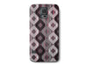 Wood Grain Pink and Brown Plaid Diamond Phone Case