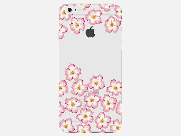Phone Case with White Floral Pattern