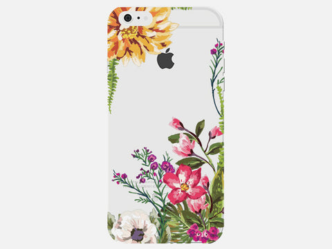 Floral Spring Clear Phone Cover