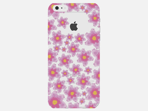 Floral Pink Clear Phone Cover