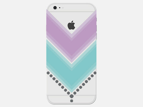 "Clear Pastel Geometric ""V"" Phone Case"