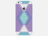 Geometric Pastel Diamond Clear Phone Cover