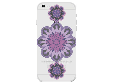 Clear Geometric Flower Phone Cover