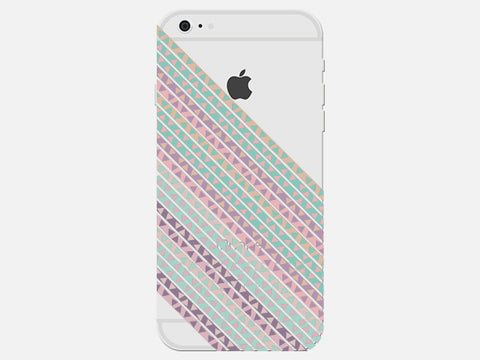 Clear Geometric Triangle Striped Phone Cover
