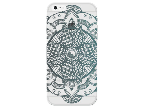 Ombre Mandala Flower Phone Back Cover