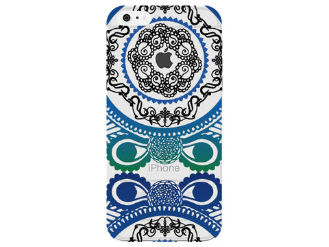 Green and Blue Swirl Mandala Phone Back Cover