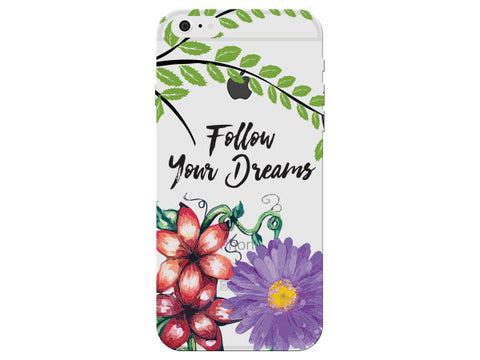 """Follow Your Dreams"" Motivational Clear Phone Cover"