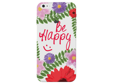 """Be Happy"" Motivational Clear Phone Case"