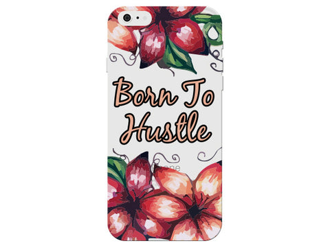 """Born to Hustle"" Motivational Clear Phone Case"