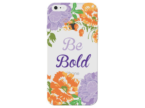 """Be Bold"" Inspirational Clear Phone Case"
