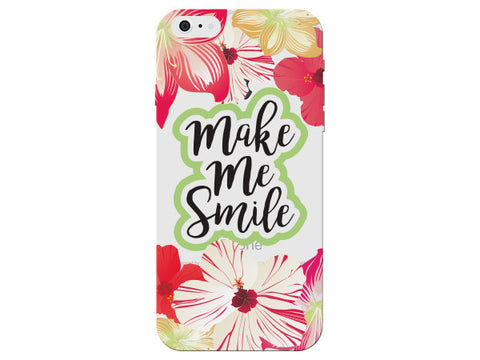 """Make Me Smile"" Inspirational Clear Phone Case"