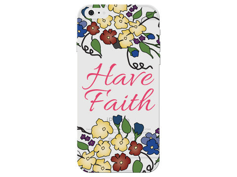 """Have Faith"" Inspirational Clear Phone Case"