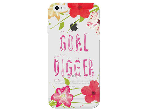 """Goal Digger"" Inspirational Clear Phone Cover"