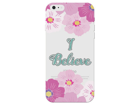"""I Believe"" Motivational Clear Phone Cover"