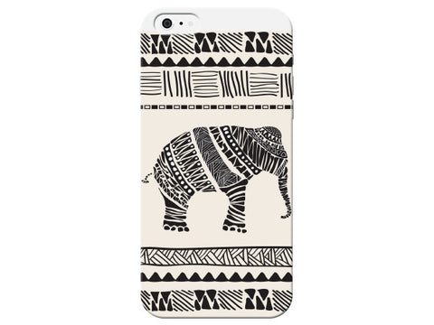 Black Sketch Elephant Phone Case