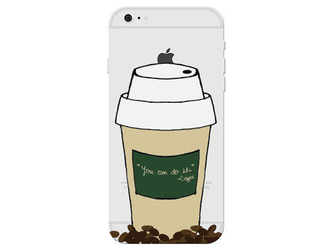 Coffee Cup Clear Phone Cover
