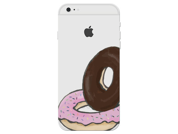 Donuts Clear Phone Cover