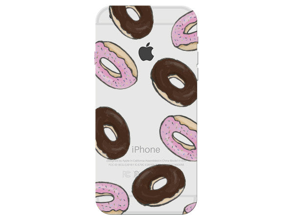 Donut Collage Clear Phone Cover