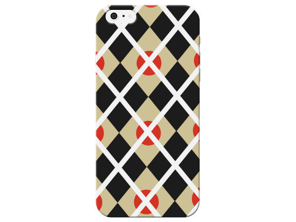 Black And White Plaid Patterned Phone Case