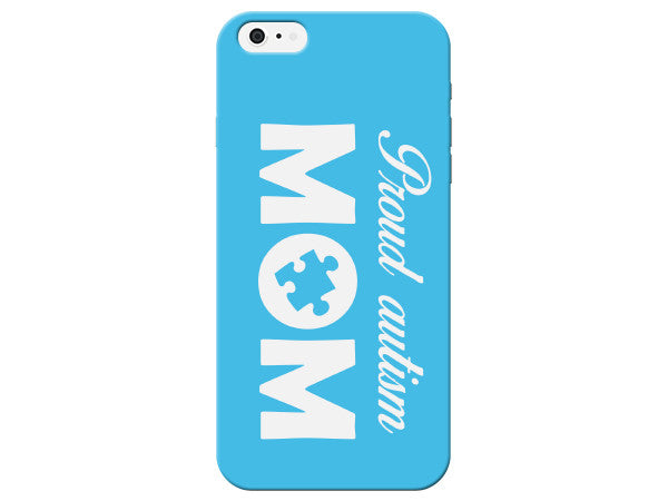 Blue Autism Mom Plastic Phone Case