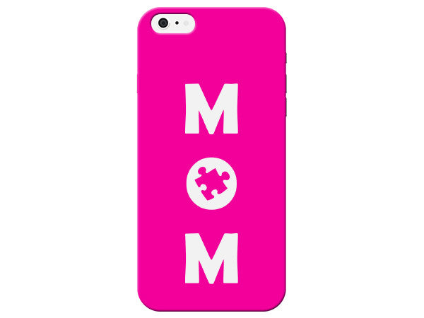 Pink Mom Puzzle Piece Phone Case