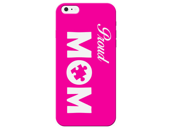 Autism Mom Pride Plastic Phone Case