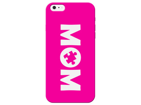 Hot Pink Mom Autism Puzzle Piece Phone Case