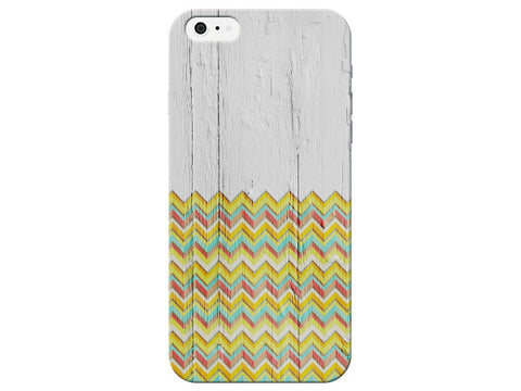Wood Grain Chevron Pattern Phone Case