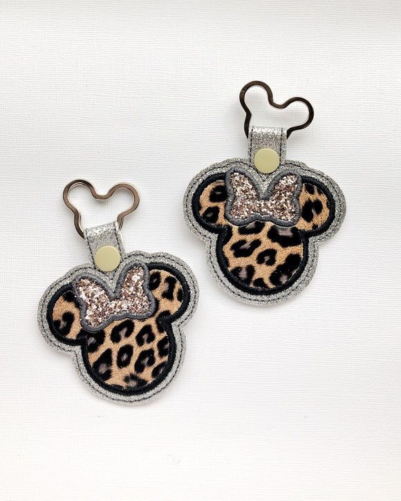 Miss Mouse Leopard Key Chain