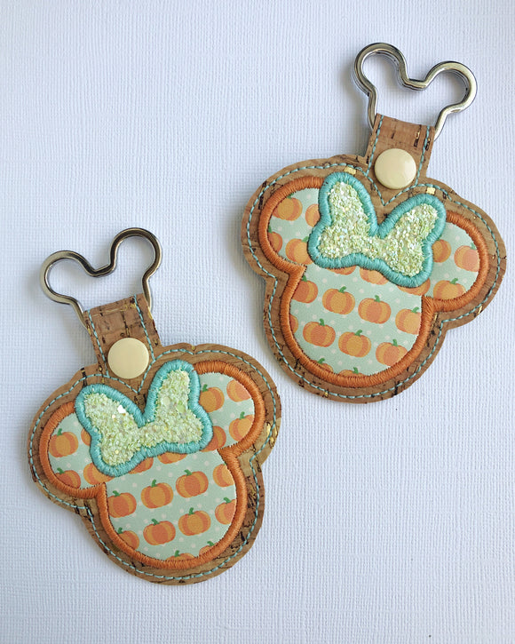 Pastel Pumpkin Miss Mouse Key Chain