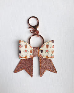 Frozen Coffee Bow Key Chain