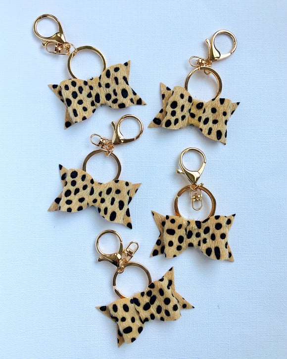 Cheetah Bow Keychain