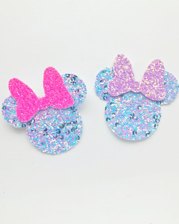 Miss Mouse Pin (Unicorn Glitter)