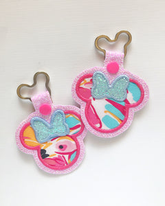 Flamingle Miss Mouse Key Chain