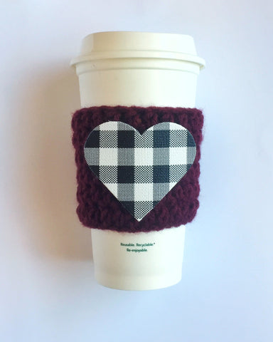 Buffalo Plaid Heart - 2 Color Choices