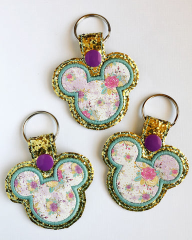 Whimsical Flower Mouse Snap Tab