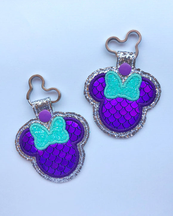 Mermaid Scale Miss Mouse Key Chain