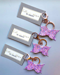 Pinky Promise Glitter Key Chain