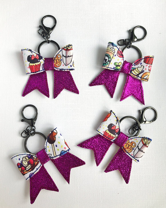 Magic Snack Bow Key Chain