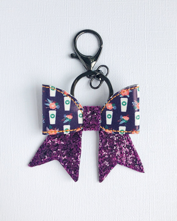 Hot Coffee Bow Key Chain