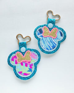 Fantasy Garden Miss Mouse Key Chain