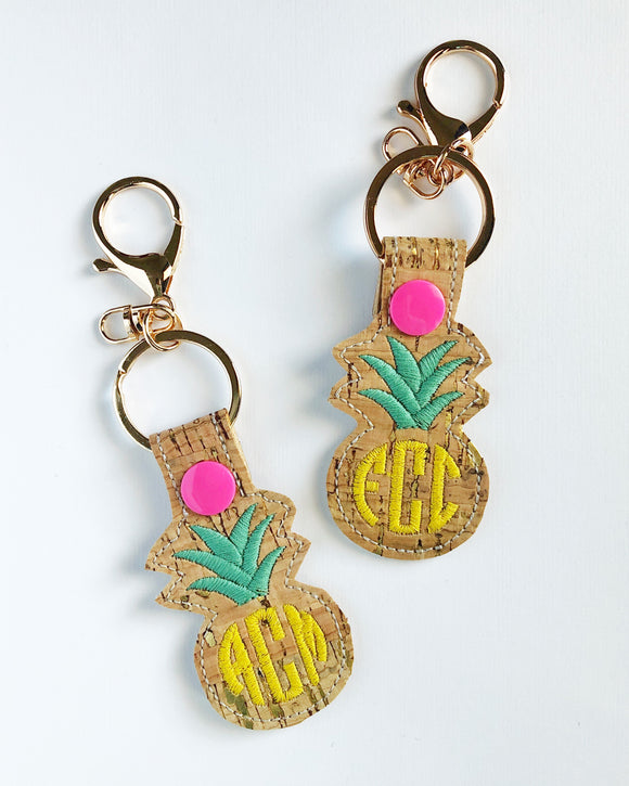 Monogram Pineapple Key Chain