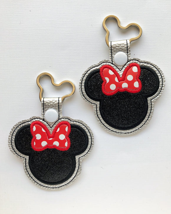 Rock the Dots Miss Mouse Key Chain