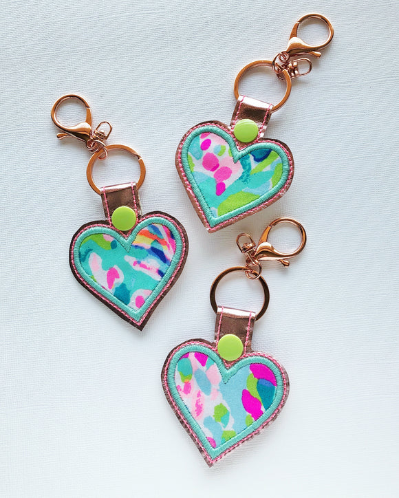 Catch the Wave Heart Key Chain
