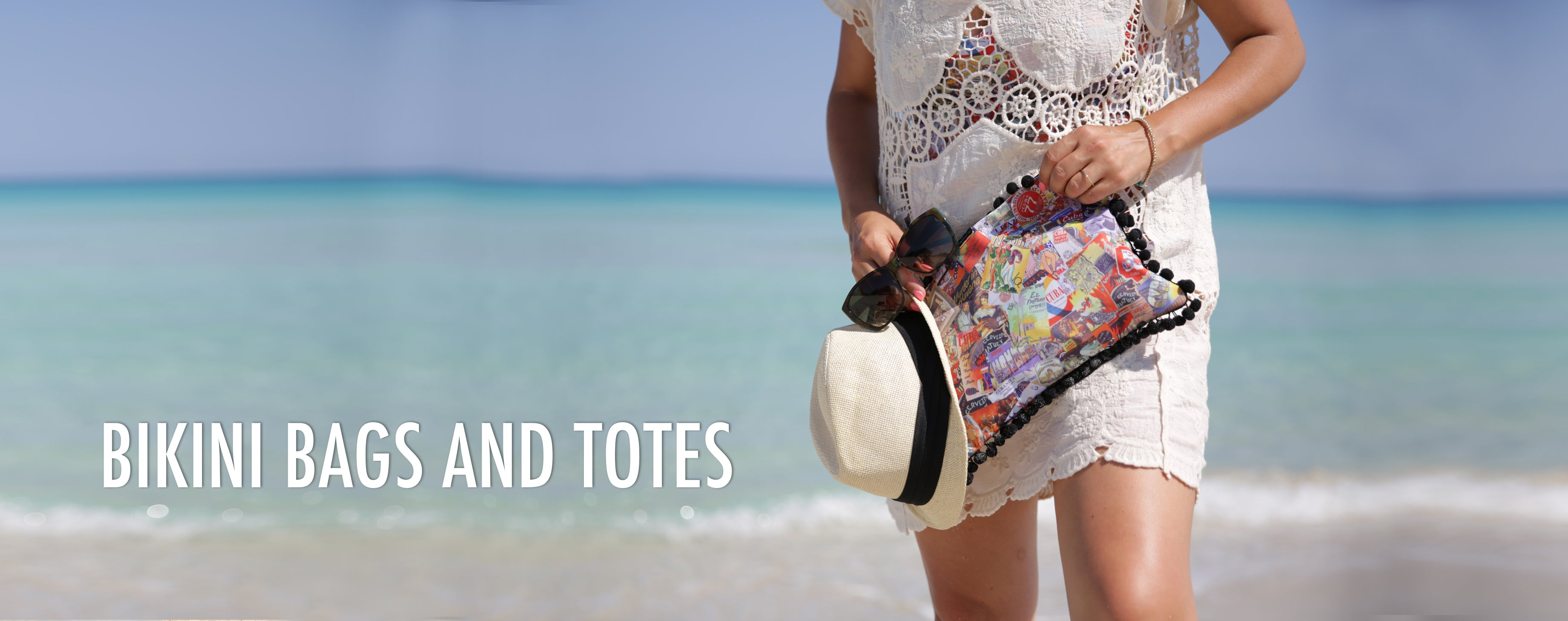 bikini bags and beach totes